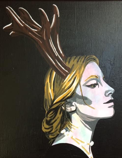 Adeline (100€) 25 x 30 cm - 2019