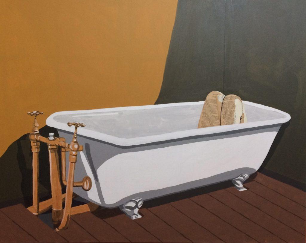 La baignoire (800€) 100 x 80 cm - 2019