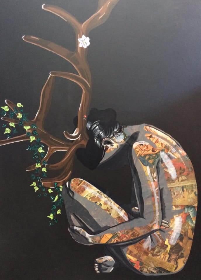 La divinité (1200€) 130 x 97 cm - 2019