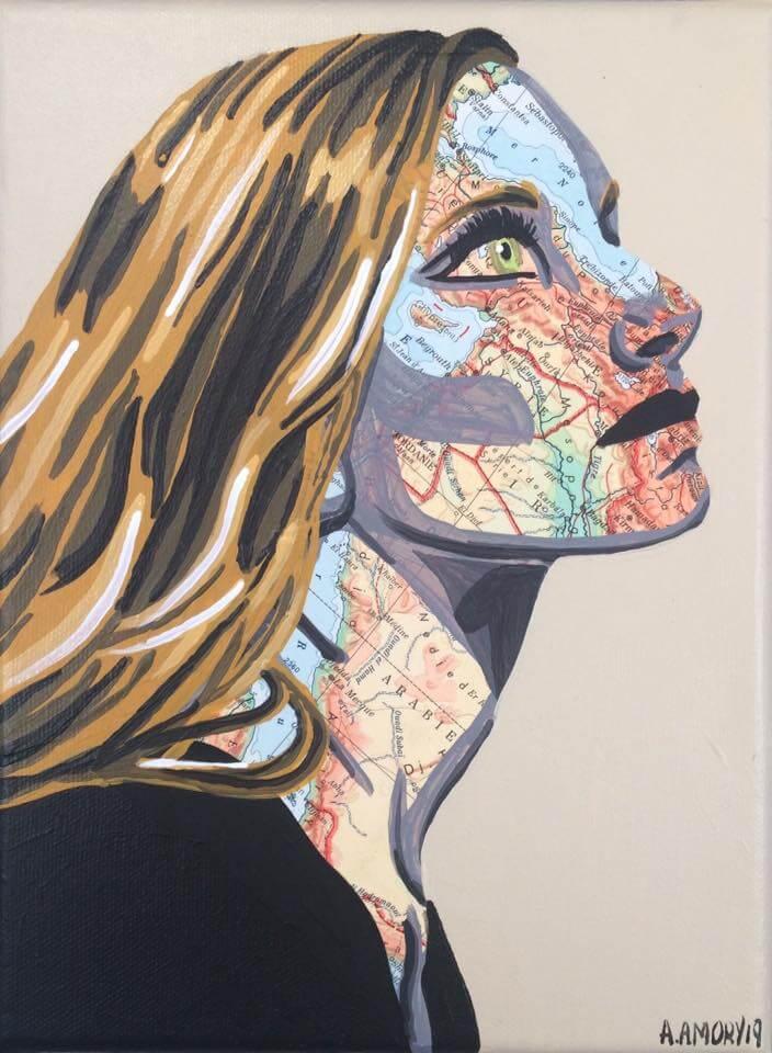 Pauline (vendue) 24 x 18 cm - 2019