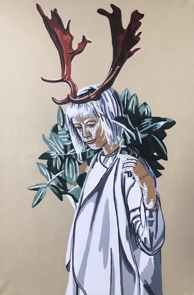 L\'esprit de la forêt (300€) 40 x 60 cm - 2020