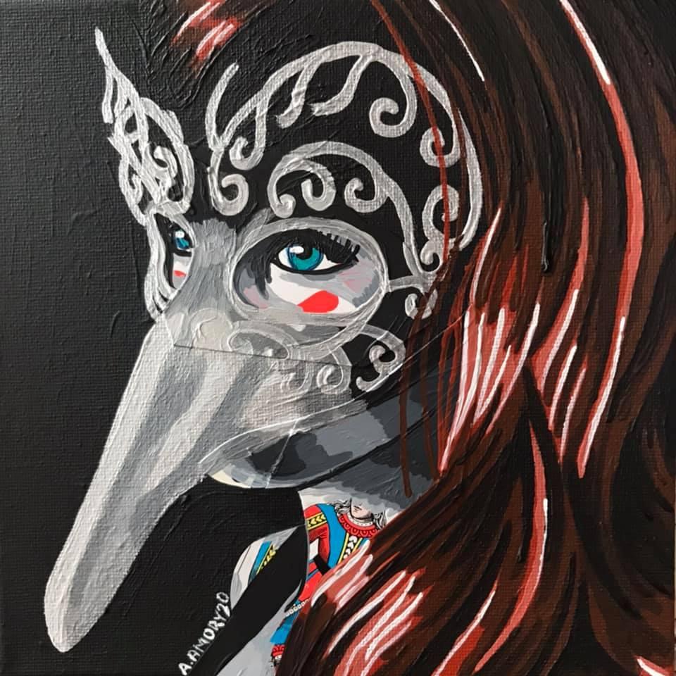 Mascarade (Vendue) 20 x 20 cm - 2020