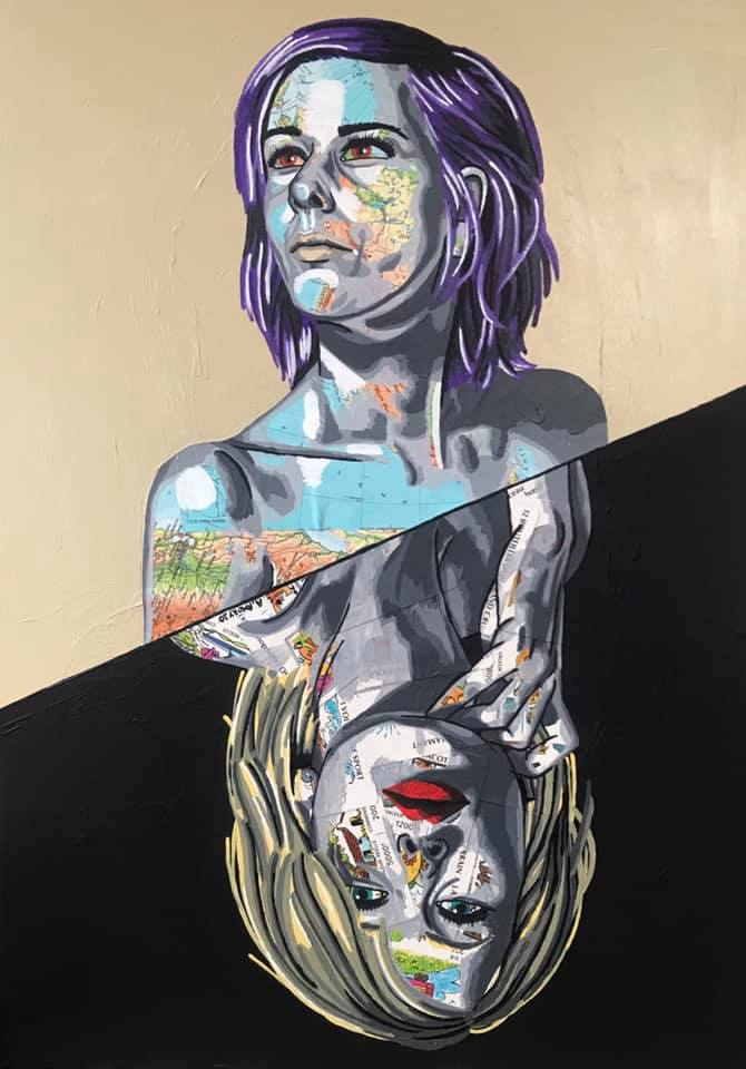 Être ou Avoir (700€) 50 x 70 cm - 2020