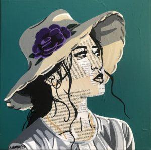Joan (Vendue) 30 x 30 cm - 2020
