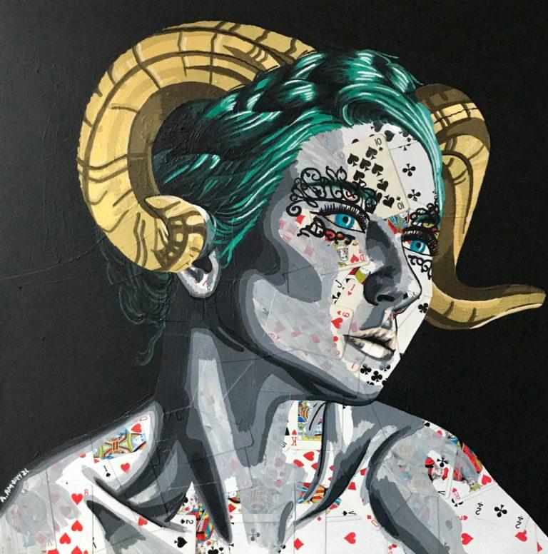 La Gorgone (600€) 60 x 60 cm - 2021