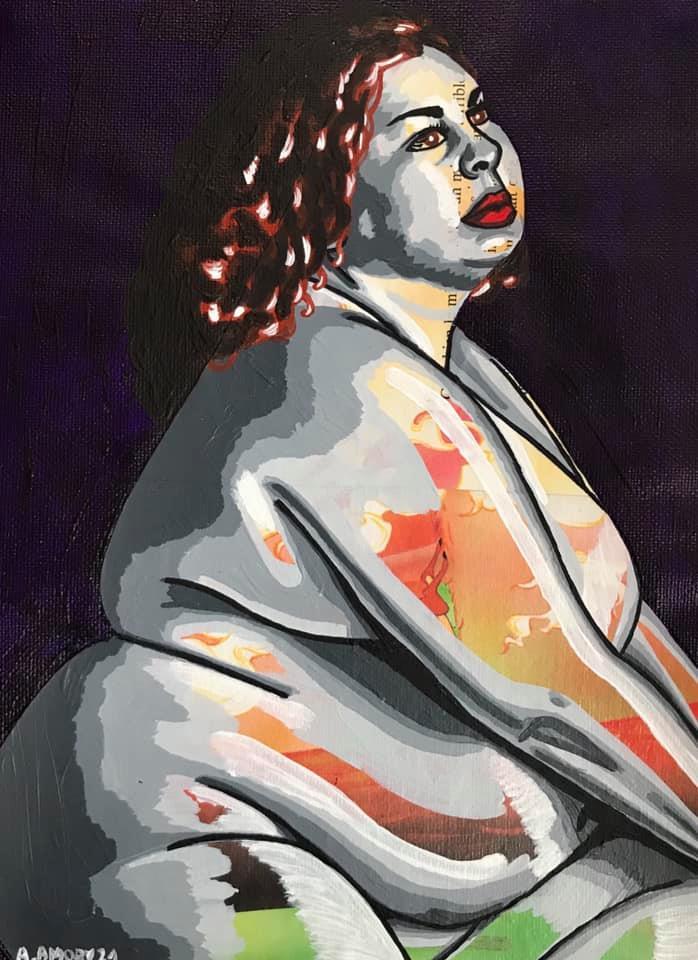Portrait de la jeune fille en feu (80€) 22 x 30 cm - 2021