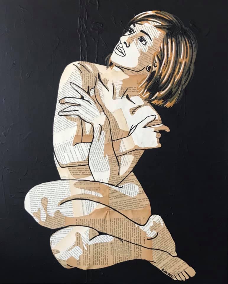 La pudeur (330€) 60 x 50 cm - 2021