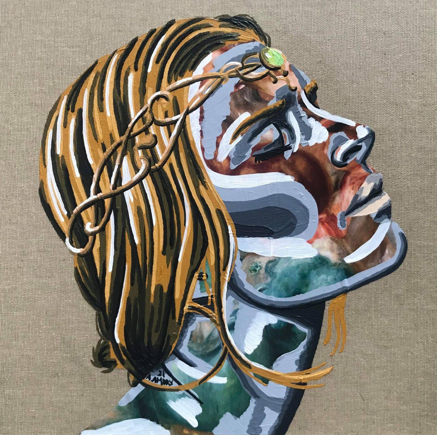 Laure (120€) 30 x 30 cm - 2021