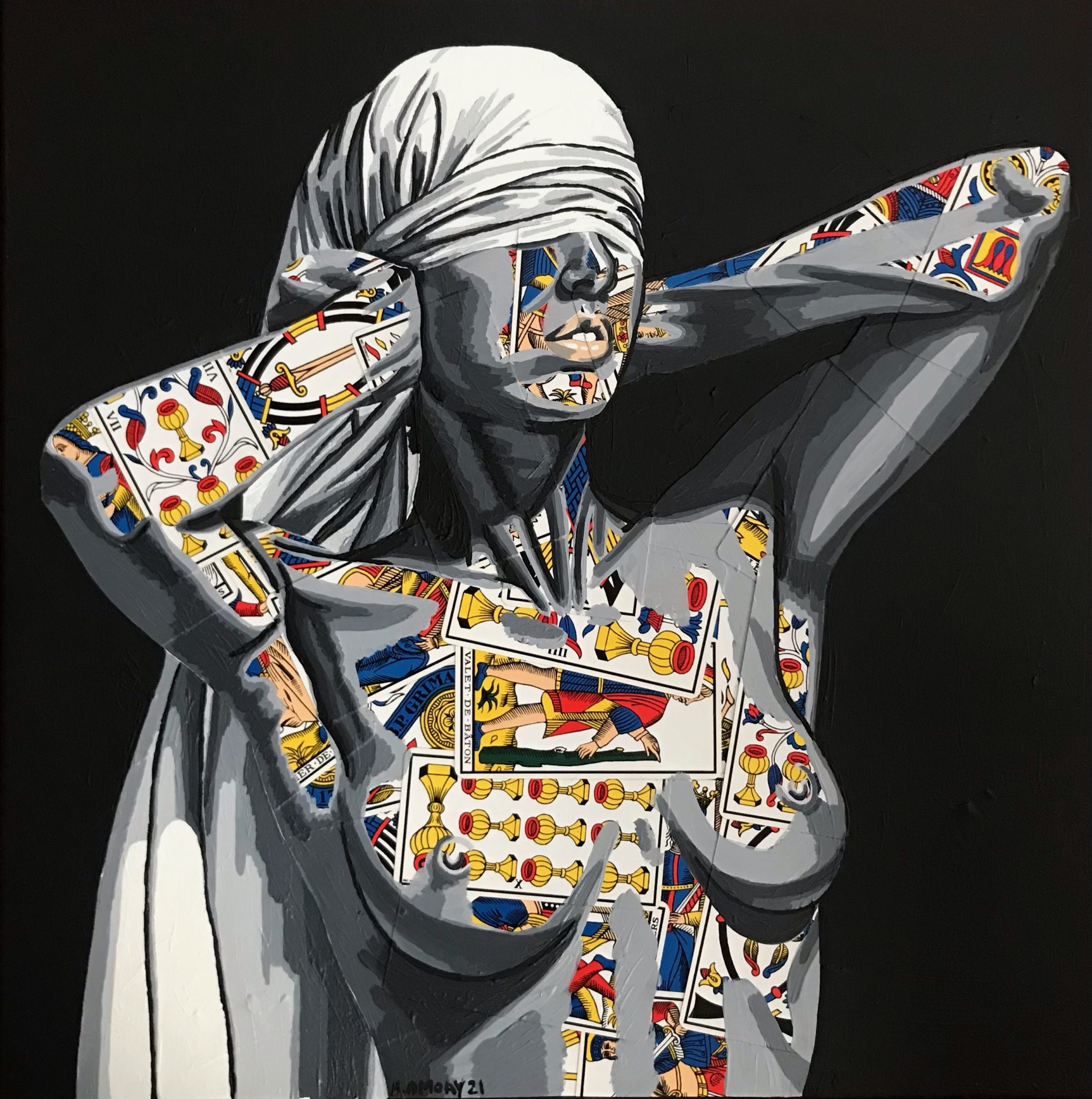 Cassandre (350€) 50 x 50 cm - 2021
