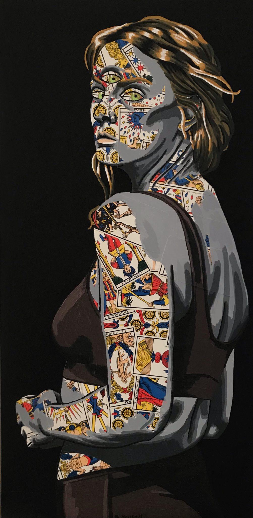 La Visionnaire (600€) 40 x 80 cm - 2021