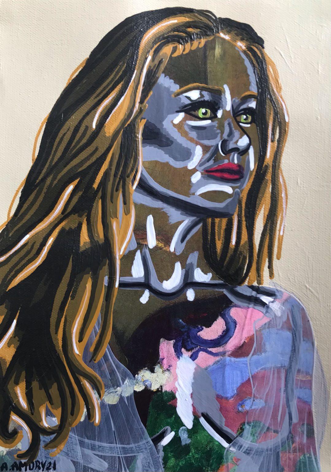 Johanna (80€) 21 x 30 cm, 2021